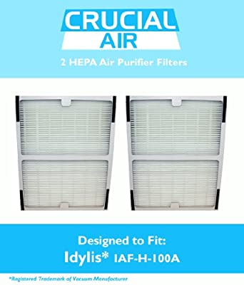2 Idylis A HEPA Air Purifier Filter, Fits Idylis Air Purifiers Idylis IAP-10-100 Idylis IAP-10-150, Model # IAF-H-100A, IAFH100A, Designed & Engineered by Crucial Air