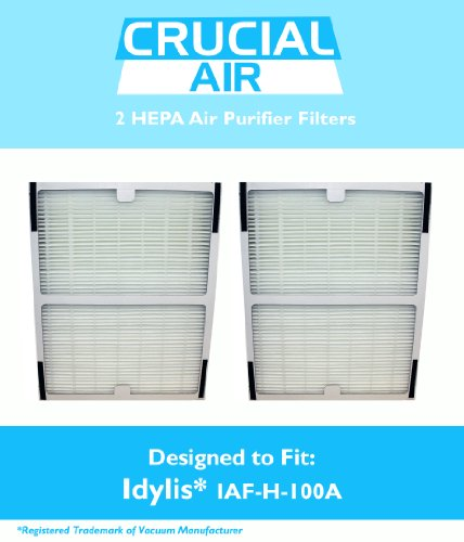 2 Idylis A HEPA Air Purifier Filter, Fits Idylis Air Purifiers Idylis IAP-10-100 Idylis IAP-10-150, Model # IAF-H-100A, IAFH100A, Designed & Engineered by Crucial Air (Air Purifier Filter Idylis compare prices)