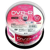 HI-DISC 16倍速対応DVD-R 50枚パック4.7GB ホワイトプリンタブルハイディスク HDVDR12JCP50