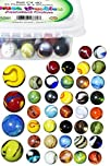 Set Of 40 Beautiful Game Marbles, 36…