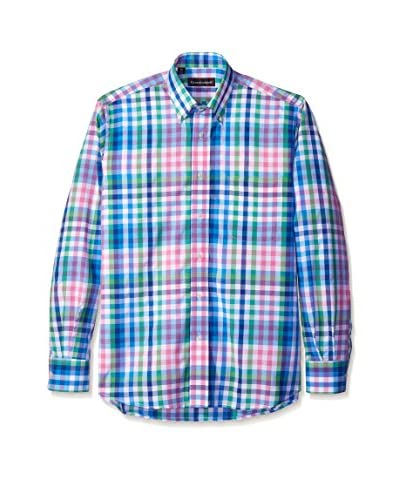 Kenneth Gordon Men's Multi Check Button Down Sport Shirt