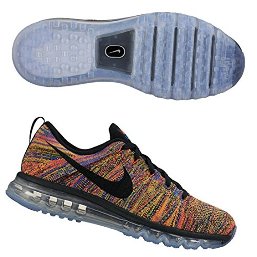 Nike Mens Flyknit Air Max 10.5 Black/Racer Blue/Total Crimson/Black (Nike Air Max Flyknit compare prices)