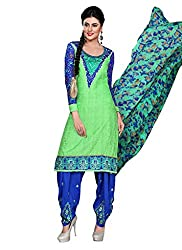 Balle Balle Green colored dress material
