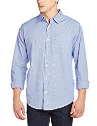 Fox Men's Casual Shirt (435664420038_435664_Medium_Blue and Purple)