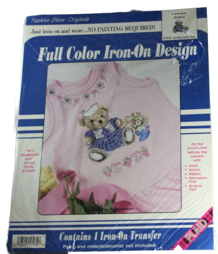 Fashion Show Originals Full Color Iron On Design Sunday Sailor Bear