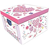 Daisy Patch Hearts Large Collapsible Storage Box