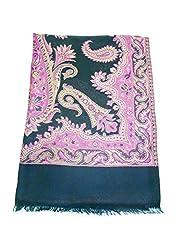 Maira Women's Pashmina Shawls & Stoles Black Colour