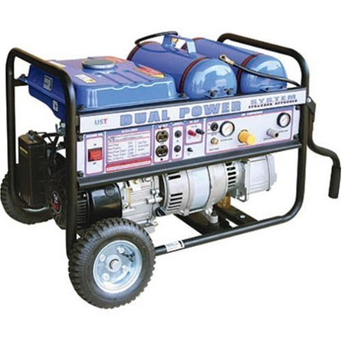 UST 4-in-1 Jobsite 2,300 Watt 6.5 HP 196cc 4-Stroke Gas Powered Generator and Air Compressor With 2 Gallon Removable Tank TTDPS