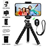 iPhone Tripod Phone Tripod, UBRU Tripod for iPhone Stand with Bluetooth Remote Camera Shutter Remote Shutter Release and Universal Clip for Android iO