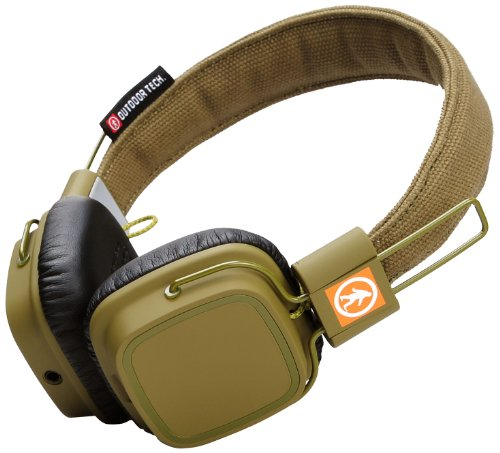 Outdoor Tech Ot1400 Privates Touch Control Wireless Bluetooth Headphones (Army Green)