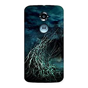 Stylish Horror Tree Multicolor Back Case Cover for Moto X 2nd Gen