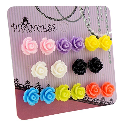 mixed-color-resin-rose-flower-magnetic-stud-earrings-for-teen-girls-kids-womens