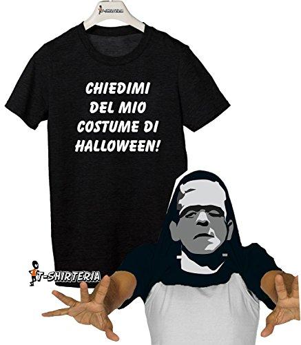 Tshirt con effetto sorpresa - CHIEDIMI DEL MIO COSTUME DI HALLOWEEN - frankenstein - Tutte le taglie by tshirteria