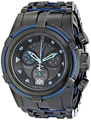 Invicta Men's 16002BWB Jason Taylor Analog Display Swiss Quartz Black Watch