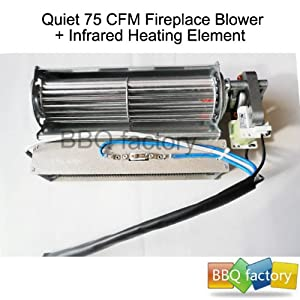 Bbq Factory Replacement Fireplace Fan Blower Heating Element For Heat Surge