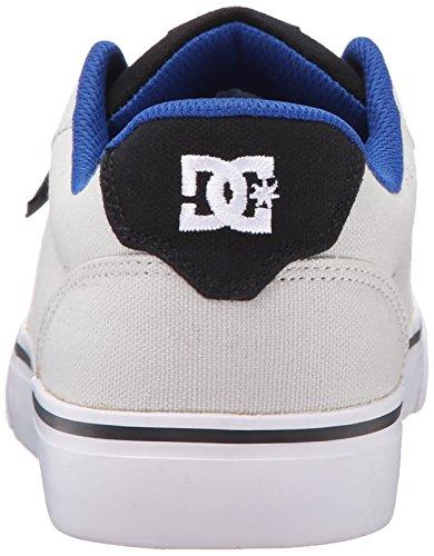 DC Men's Anvil TX Skate Shoe, Grey/Black, 11.5 M US