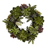 Artificial Succulent Wreath - 20 Inches