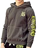 K&B Mens Long Sleeve Embroidered Pullover Hoodie #M053