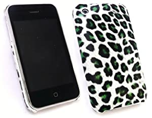 EMARTBUY APPLE IPHONE 3G / 3GS LEOPARD GREEN CLIP ON PROTECTION CASE/COVER/SKIN