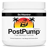 PostPump CLEAN Post Workout Supplement Recovery Powder with Creapure Creatine Monohydrate Carnipure L-Carnitine & Ajipure Branched Chain Amino Acids (BCAAs), Certified Vegan Paleo Non-GMO, 225 Grams