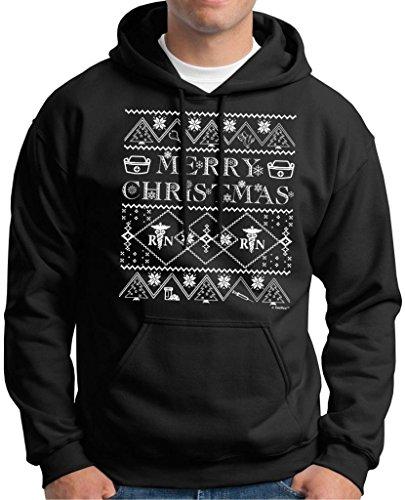 Ugly Christmas Sweater For Nurses Premium Hoodie Sweatshirt Large Black