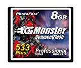 PhotoFast G-Monster 533倍速 8GB コンパクトフラッシュカード読込80MB/s 書込80MB/s GM-533CF8SL