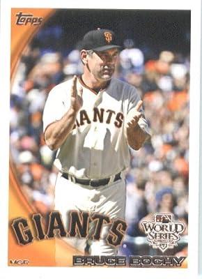 2010 Topps San Francisco Giants World Series Baseball Card #SFG27 Bruce Bochy Mint