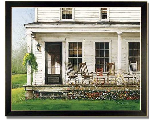 Front Porch Rockers Antique Decor Country Framed Print front-1000401