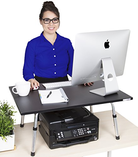 Executive Stand Steady Standing Desk -Holds 2 Monitors- Award Winning Stand up Desk Converter - Featured in Forbes and The Washington Post! (Black) (Standing Desk Platform compare prices)