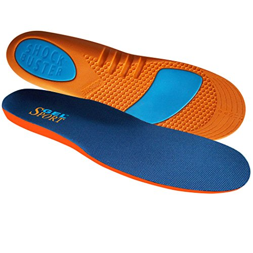 JobSite Gel Sport Insoles - Gel Heel Shock Buster & Comfort Forefoot Gel Cushion - Help Prevent Everyday Foot Pain, Heel Pain, Ball of Foot Pain & Plantar Fasciitis - Men Size 8-13 (Trim to Fit) (Boot Inserts For Men compare prices)
