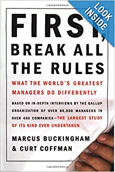 Book Cover: First, Break All The Rules