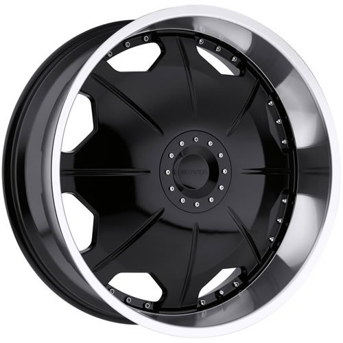51lEhpzqhAL Strada Mirror 26 Black Wheel / Rim 5x4.5 & 5x120 with a 18mm