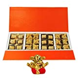 Chocholik Belgium Chocolates - 24pc Amazing Treat Of Baklava Gift Box With Small Ganesha Idol - Diwali Gifts