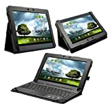 Poetic FlexBook 2 in 1 Leather Keyboard Portfolio Stand Case Cover for ASUS Transformer Pad Infinity TF700 / TF700T