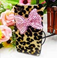 Bling Shiny 3D Black BOW Leopard Key Case Cover For iPhone 4 4S 4G 5 5S 5G Samsung Galaxy S 3 III i9300 S 4 IV i9500