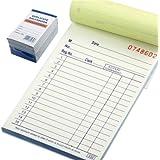 "10 Pack Lot Sales Book Order Receipt Invoice Carbonless Copy 50 Sets 3.5"" X 5.5"""