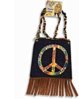 Funky 60s Costume Hippie Hand Bag (denim appears darker in photo)
