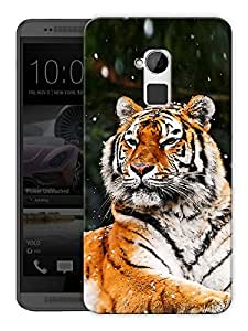 "Humor Gang Tiger Sitting Printed Designer Mobile Back Cover For ""HTC ONE MAX"" (3D, Matte, Premium Quality Snap On Case)"