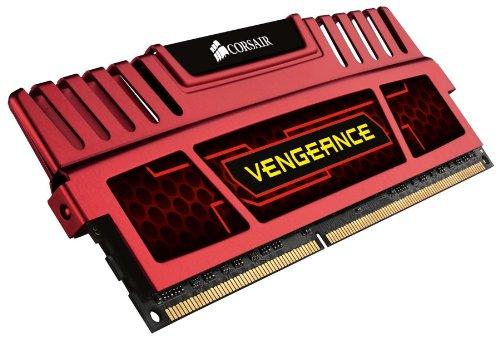 16GB-Kit Corsair Vengeance rot PC3-14900U CL9-10-9-27 (DDR3-1866)