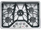 GE CGP350SETSS Cafe 30' Stainless Steel Gas Sealed Burner Cooktop