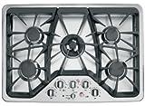 GE CGP350SETSS Cafe 30' Stainless Steel Gas Sealed Burner Cooktop