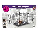 ✳ Knight Pet 19-Inch Deluxe Heavy Gage Metal 2 Door Dog Crate ✳