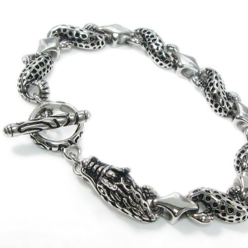 Stainless Steel Dragon Link Bracelet 10mm 8.25
