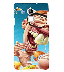 Laughing Cartoon 3D Hard Polycarbonate Designer Back Case Cover for Coolpad Note 3 Lite