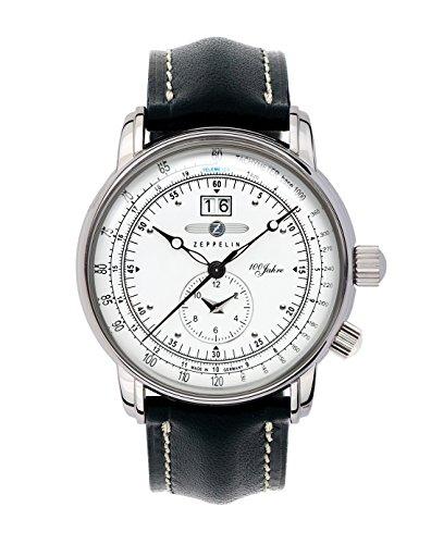Zeppelin Men's Quartz Watch 100 Jahre Zeppelin 7640-4 with Leather Strap