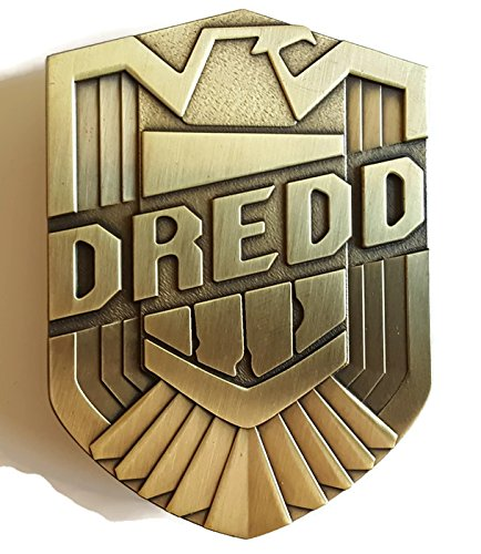 [Judge Dredd Bronze-Tone Inspired Badge] (Dredd Halloween Costume)