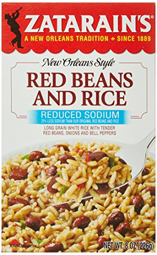 ZATARAIN'S Reduced Sodium Red Beans and Rice, 8-Ounce (Pack of 6)