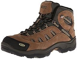 Hi-Tec Men\'s Bandera Mid Waterproof Hiking Boot, Bone/Brown/Mustard, 9.5 M US