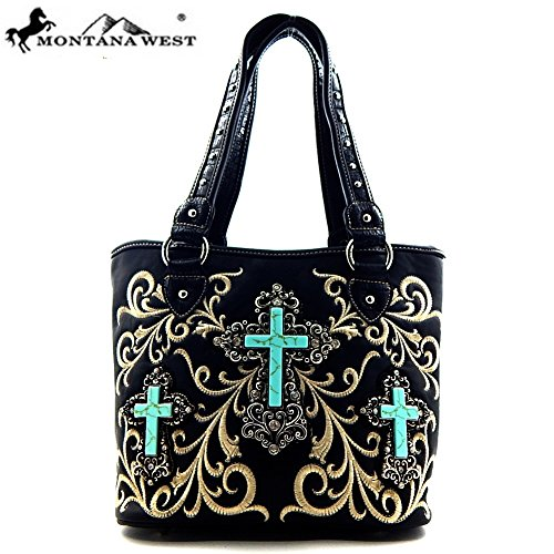 montana-west-triple-turquoise-cross-western-tote-bag-black