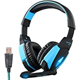 Jiale KOTION EACH G4000 Professional 3.5mm Stereo Gaming LED Lighting Over-Ear High Quality Mic Gaming Headphone...